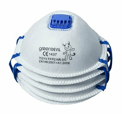 Connex Feinstaubmaske FFP2 mit Ventil 5 Stück Arbeit Staubschutzmaske NEU